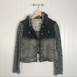 Daytrip buckle distressed jacket gray black small